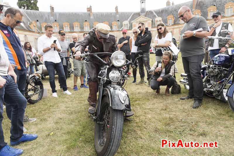 Motors-and-Soul, Laurent et sa Harley Knucklhead