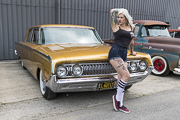 Lowrider Show By Majestics Paris, Mercury Monterey and Pin-up