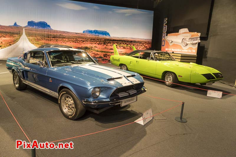 American-Dream-Cars-and-Bikes, Shelby Mustang GT500KR et Plymouth Superbird