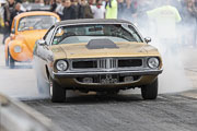 9e European Dragster, Burn Philippe Saintin sur Plymouth Barracuda