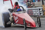 9e European Dragster, Fabien Dubois sur rail Milwaukee